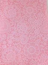 Panno rosa con decori 1mm - mis 30x40 cm
