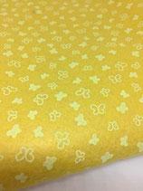 Pannolenci 1mm giallo con farfalle