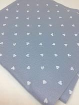 Pannolenci 1mm grigio cuori bianchi 45X50