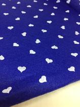 Pannolenci 1mm blu cuori bianchi 45X45