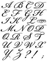 Timbro Alfabeto Corsivo