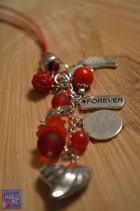 Schutzengelkette rot- Engel der Liebe