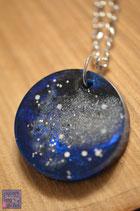 """""""Stardust""""- Amulette schwarz/ blau"""