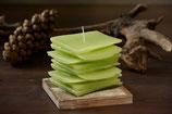 Meditationskerze apfelgrün