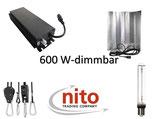Growlight Set: mit dimmbaren elektronischen VSG (250-660 Watt), vollständig verkabeltem Reflektor, NDL und Aufhängung