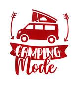Aufkleber Camping Mode - Bulli (10x11cm)