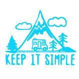 Aufkleber Keep it Simple - Wohnmobil (12x9cm)