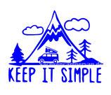 Aufkleber Keep it Simple - Bulli (12x9cm)