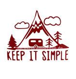 Aufkleber Keep it Simple - Wohnwagen (12x9cm)
