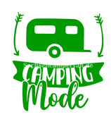 Aufkleber Camping Mode - Wohnwagen (10x11cm)