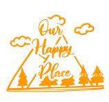 Aufkleber Our Happy Place (10x7,5cm)