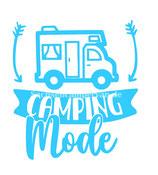 Aufkleber Camping Mode - Wohnmobil (10x11cm)