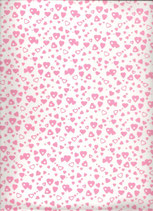 Goma eva corazon blanco-rosa
