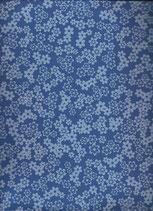 Goma eva flores azul-blanco