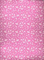 Goma eva corazon rosa-blanco