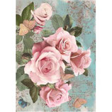 Papel de arroz Rose-033M