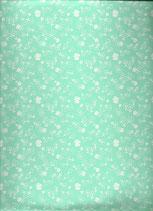 Goma eva flores verde-blanco
