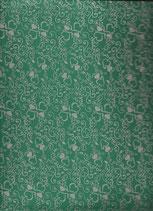 Goma eva corazones verde-plata