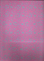 Goma eva corazon rosa-azul