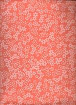 Goma eva flores naranja-blanco