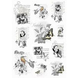Papel de arroz Black & White-249
