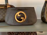 Gucci Tasche Clutch Interlocking GG braun Leder