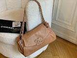 Chanel Tasche Shopper Lammleder cognac