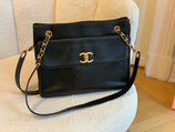 Chanel Tasche Shopper Caviar Leder schwarz CC