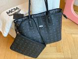 MCM Tasche Liz Shopper Visetos schwarz + Pochette neuwertig