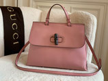 Gucci Tasche Bamboo Shopper Leder rosa