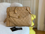 Chanel Tasche Shopper Caviar Leder beige WUNDERSCHÖN