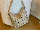 MCM Tasche Hobo Shopper Visetos beige crossbody