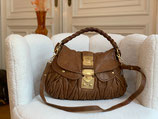 Miu Miu Tasche Coffer Bag Leder cognac Croosbody