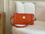 MCM Tasche Pochette First Lady Leder orange