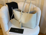 Saint Laurent Tasche Shopper + Pochette Blanc Vintage