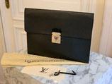 Louis Vuitton Tasche Aktentasche Minuto Taiga Ardoise