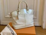 Louis Vuitton Tasche Lockit MM Suhali blanc