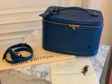 Louis Vuitton Nice Kosmetikkoffer Koffer Epi blau