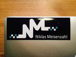 """Aufkleber - """"NM"""" mit Hintergrund"""