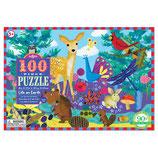Eeboo - Puzzle Leben auf der Erde 100 Teile