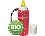 Emil die Flasche - Babyflasche Punkte rot / Textil Bio-Baumwolle