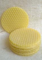 Bienenwachsplättchen,  Ø 6,2 cm,  12 Stück