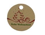 """Anhänger """"Frohe Weihnachten"""" (rund), 12 Stück"""