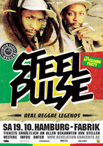 Steel Pulse Tourposter 2013