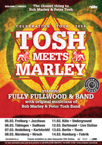 Tosh Meets Marley Tourposter