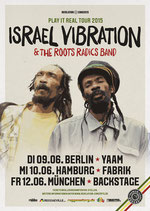 Israel Vibration Tourposter 2015