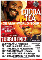 Cocoa Tea & Turbulence Tourposter