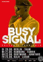 Busy Signal Tourposter 2019