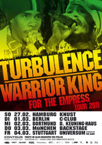 Turbulence & Warrior King  Tourposter