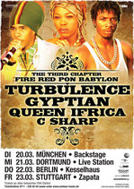 Turbulence & Guests Tourposter